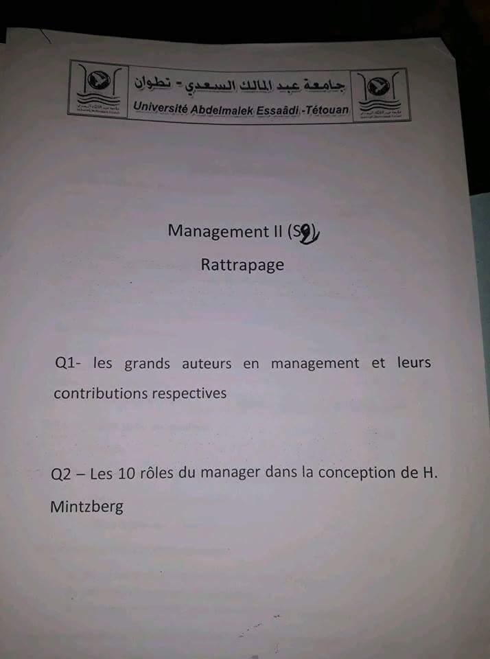 Examen 3 Management II