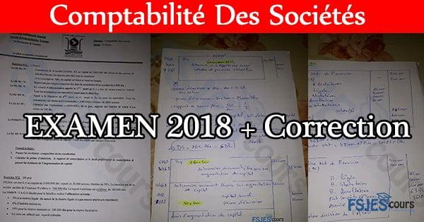 Comptabilité Des Sociétés Examen