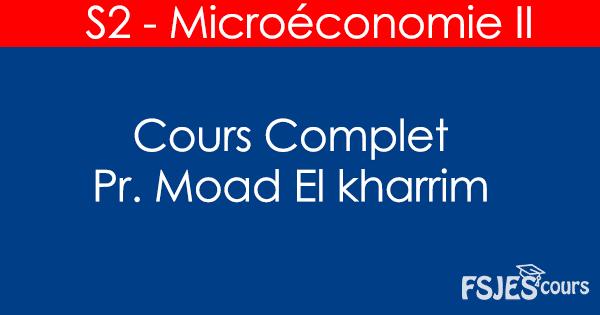 Cours de Microéconomie II