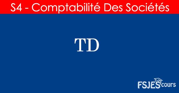 TD comptabilité des sociétés