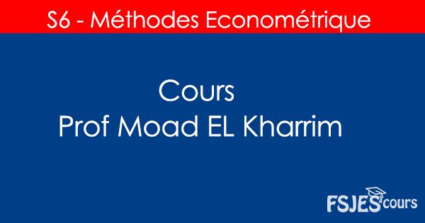 Méthodes econométries cours