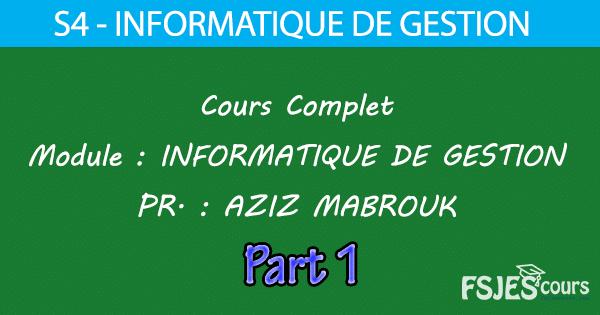 Informatique de gestion cours S4