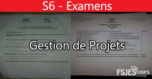 Examens gestion de projets