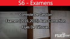 Examen contrôle de gestion avec corrigé