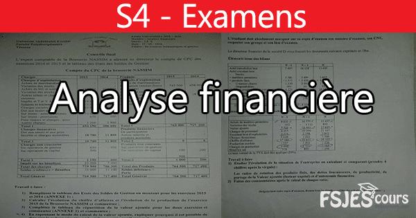 Analyse financière examens