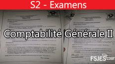 Comptabilité générale II examens