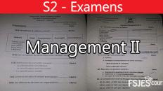 Examens Management II: