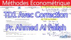 Méthodes économétriques exercice serie 2