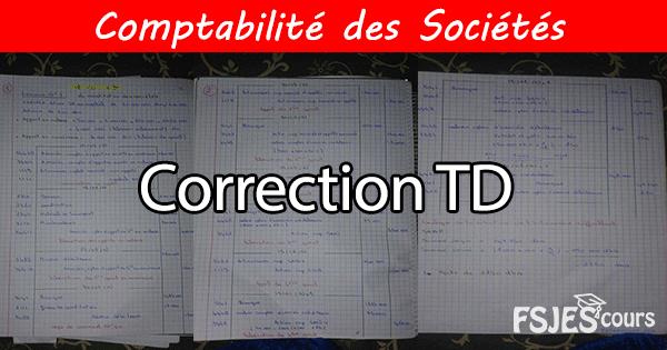 Correction TD comptabilité des sociétés
