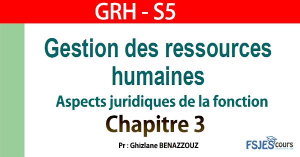 GRH cours complet s5 chapitre 3