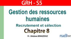 GRH cours complet s5 chapitre 8