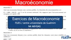 Exercices macroéconomie s2