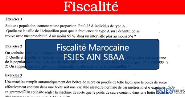 Fiscalité marocaine cours s5