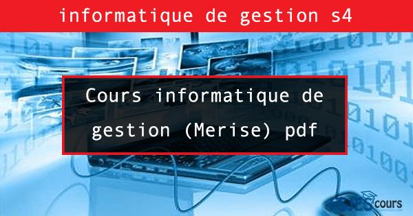 Cours informatique de gestion (Merise) s4
