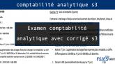 Examen comptabilité analytique avec corrigé s3 pdf