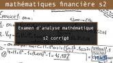 Examen d'analyse mathématique s2 corrigé Examen analyse mathéma