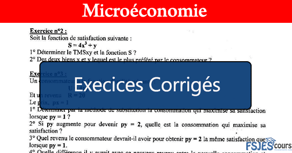 Exercices corrigés en microéconomie