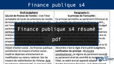 Finance publique s4