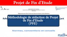 Méthodologie de rédaction de Projet de Fin d'Etude