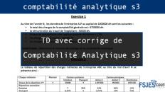 TD avec corrige de Comptabilité Analytique s3 pdf