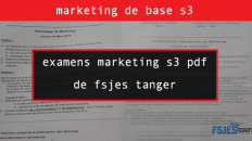 examens marketing s3 pdf de fsjest