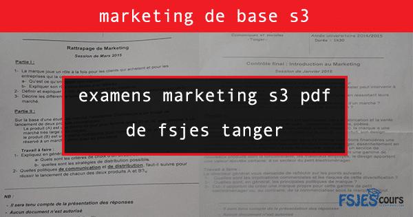 examens marketing s3 pdf de fsjest