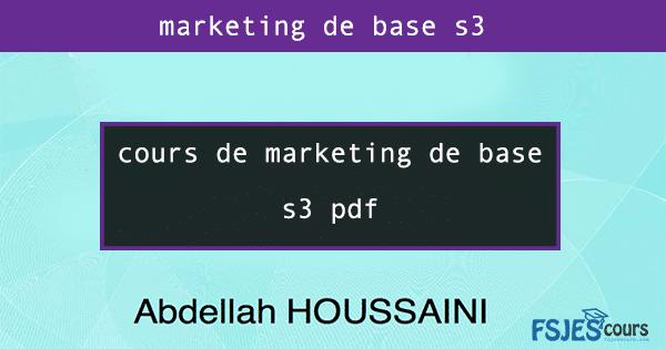 marketing de base s3