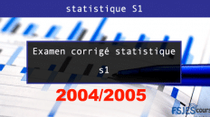 Examen statistique S1 2004 2005