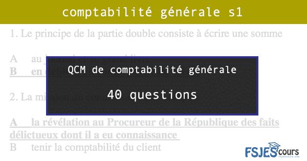 qcm comptabilité générale s1