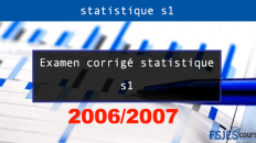 statistique s1 20062007