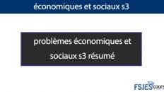 Problèmes Economiques et sociaux (PES) s3