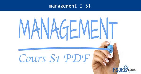 Cours management I