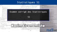 Examen corrigé des Statistiques S1