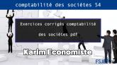 Exercices corrigés comptabilité des sociétes pdf