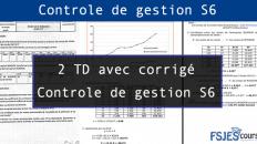 TD de Controle de gestion s6