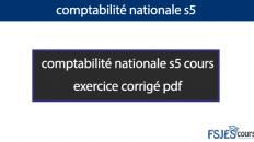 Comptabilité nationale exercice corrigé