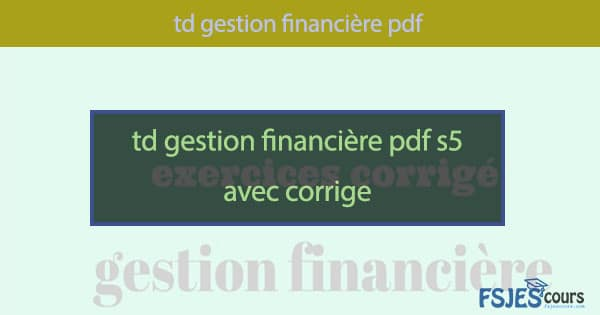 gestion financies
