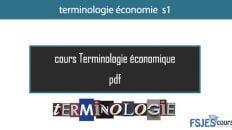 cours terminologie économie S1 pdf maroc