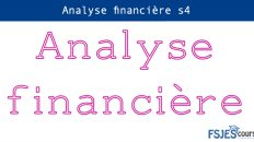 Analyse financière cours s4