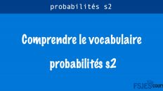 Comprendre le vocabulaire des probabilités s2