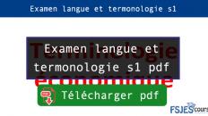Examen langue et termonologie s1
