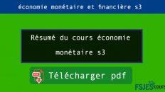 Résumé du cours économie monétaire s3