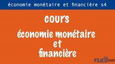 Économie monétaire et financière cours