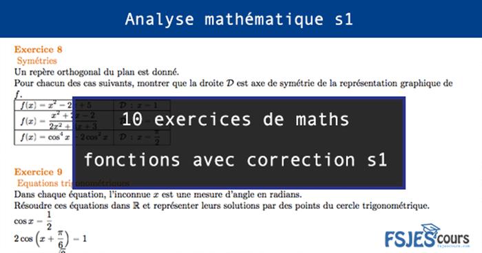maths fonctions avec correction