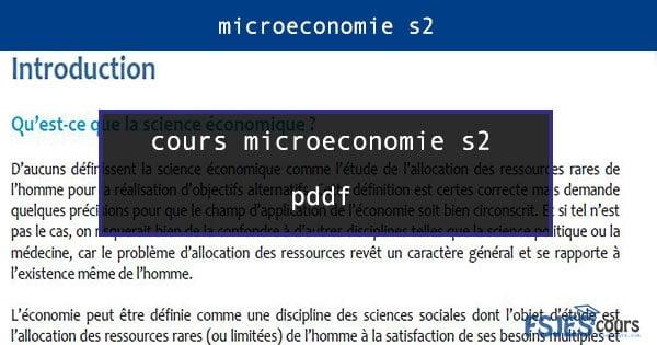 cours microéconomie s2 pdf