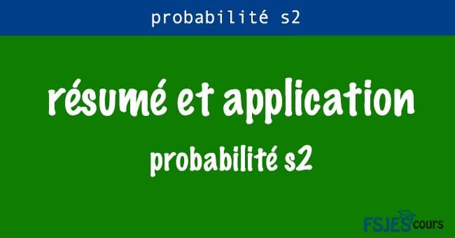 probabilité s2 résumé
