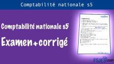 Comptabilité nationale Examen s5