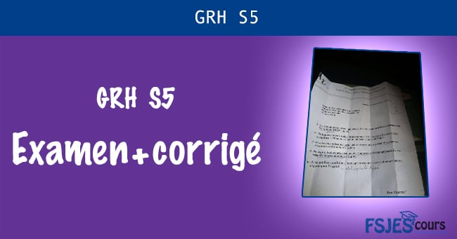 Examen GRH S5