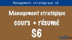 Management stratégique cours s6