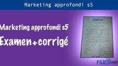 Marketing approfondi examen s5